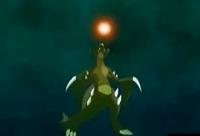 Garchomp usando Meteoro Dragón
