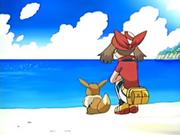 EP044 Tita y Eevee mirando hacia el mar