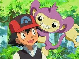 Ash y Aipom