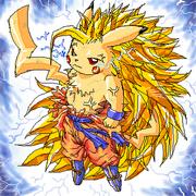 Pikachu super saiyayin 3