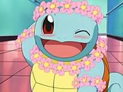 EP068 Squirtle vestida con flores