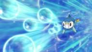 Piplup usando rayo burbuja