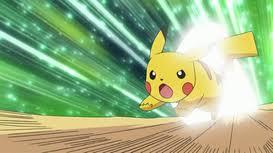Pikachu usando Ataque rapido