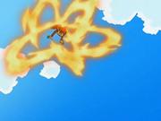 Chimchar con mar llamas usando rueda de fuego