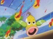 Weepinbell asustado por las hojas en llamas