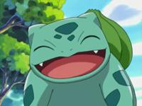 Bulbasaur sonriendo