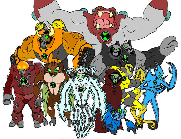 File:Another set of ben 10 aliens by bigafroman.jpg