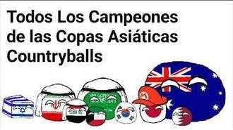 Todos los Campeones de las Copas Asiáticas - Countryballs