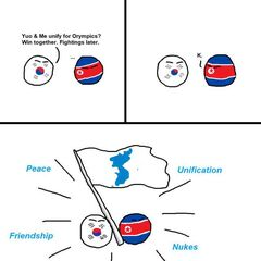 Both Koreas have learnt to settle their differences for the duration of the Olympics