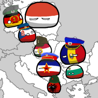 The map of the eastern bloc