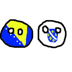Bosniaball and his friend Republic of Bosniaball (also called Bosniakball).