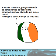 Emigración irlandesa a Estados Unidos, al estilo de la cortinilla de inicio de la serie televisiva estadounidense El Príncipe del Rap
