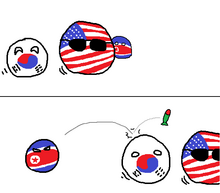 Northkoreaball is of meanie by ballsofsteal-d33g1ve