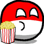 Polandball i popcorn
