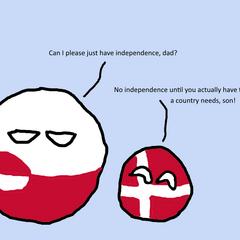 Greenlandball and Denmarkball.