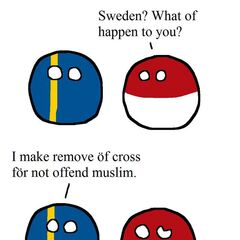 Sweden's modified flag to accommodate Muslims