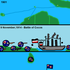 This is when the Australians defend Cocos and after that, they transferred administration to <a href=