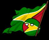 Guyanaball con bandera