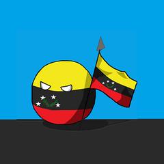 Tachiraball whit the flag