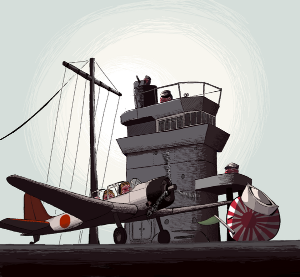 Hours before Pearl Harbor by Diictodom