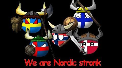 We are Nordic stronk - Finland - Sweden - Denmark - Iceland - Norway - Countryballs animation