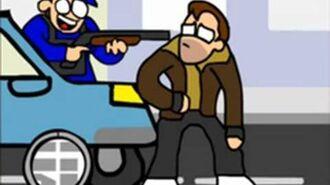 Grand Theft Awesome (GTA Parody Animation) - Oney Cartoons