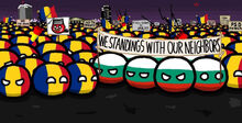 Bulgaria helps Romania in protest