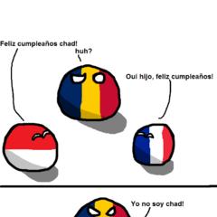 Ejemplo entre la confusión entre Chad y Rumania