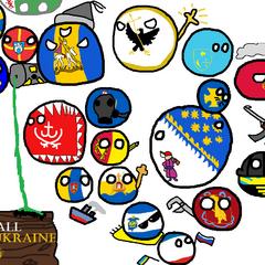 Mapa de Ucrania versión Polandball