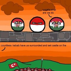 Croatia and Hungary can into removings of Kebab.