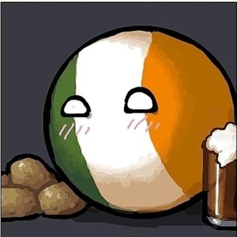 Ireland having fun with potato & beer
