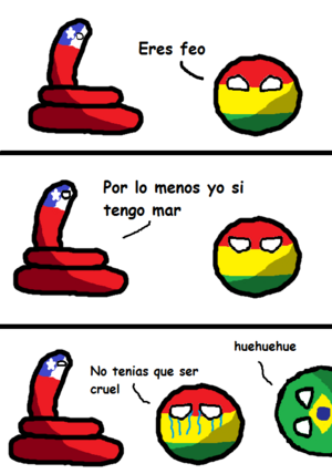 Chileball y boliviaball