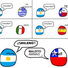 Chileball aparece en este comic enojado