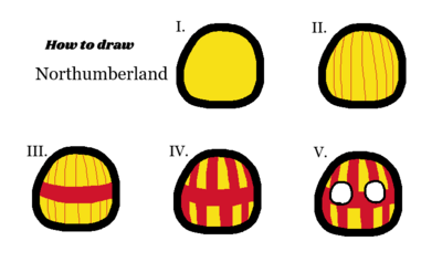 How to draw northumberland