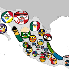 Mapa de México estilo Polandball (con versiones alternativas)