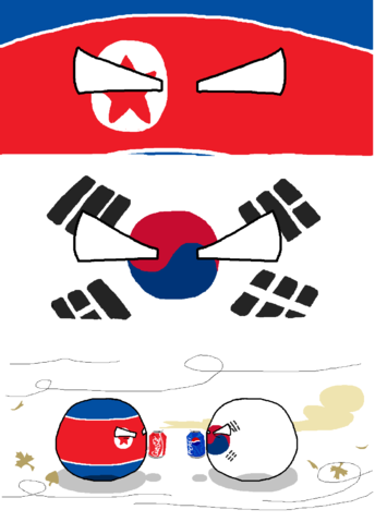 North Koreaball an South Korea sodas