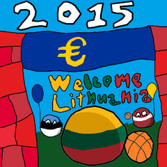 Lithuaniaball can into Eurozone!