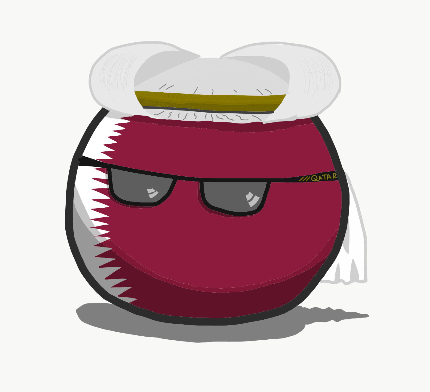 Qatarball | Polandball Wiki | FANDOM powered by Wikia