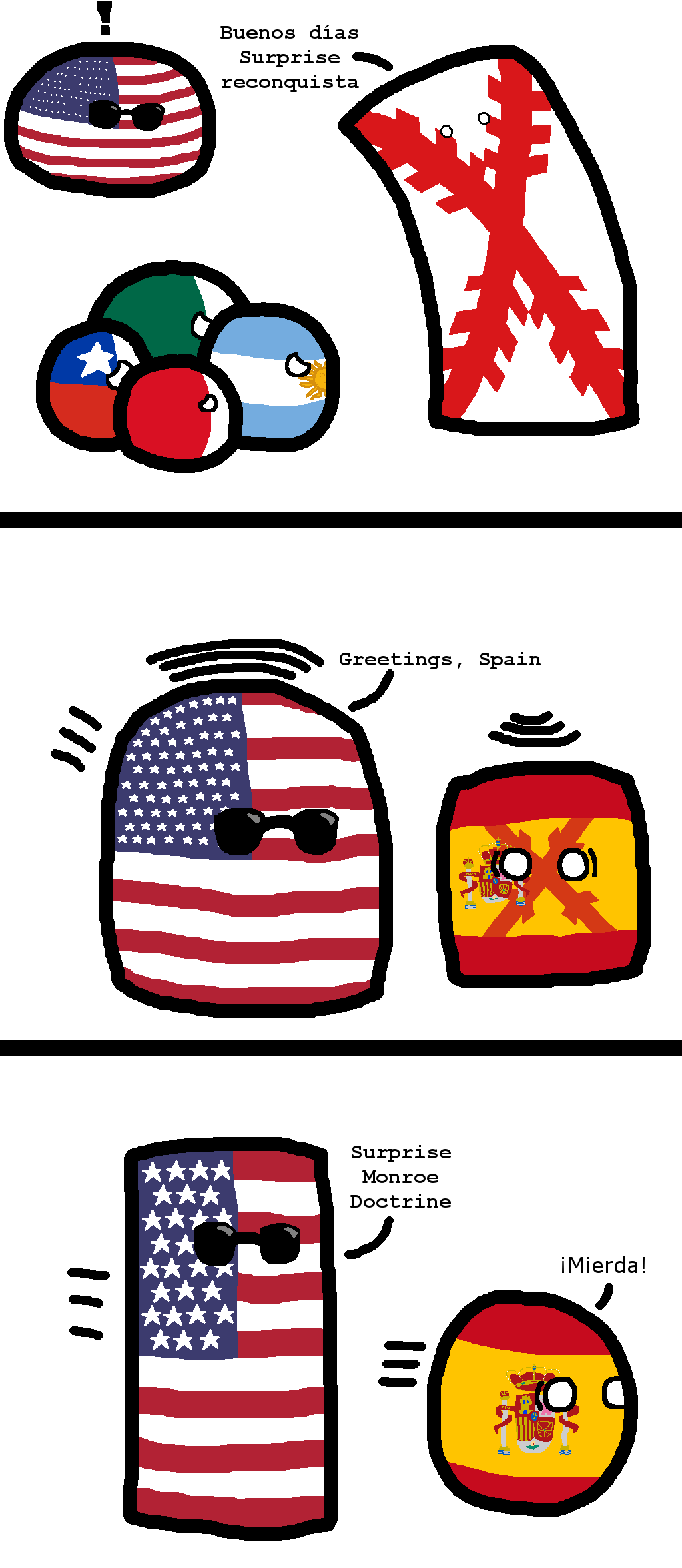 Spanish american wars of independence polandball wiki fandom spanish american wars of independence m4hsunfo