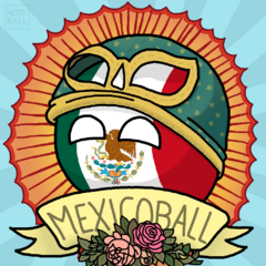 Imagen de Mexicoball representando la Lucha Libre y Virgen de Guadalupe
