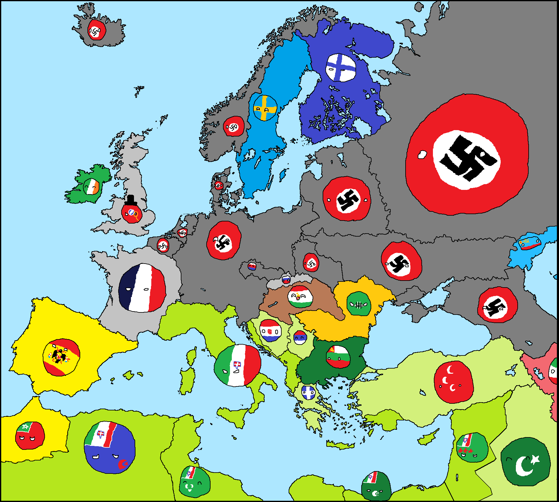 User Blog Cosmocat01 Alternate Europe 1960 Polandball Wiki