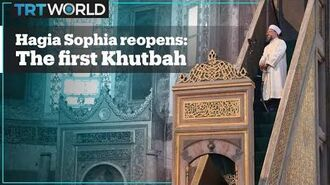 Historical Moments The first khutbah (sermon) of Hagia Sophia Mosque after 86 years