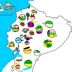 mapa Polandball de Ecuador