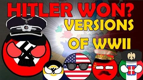Versions of WW2 in Countryballs Hitler won