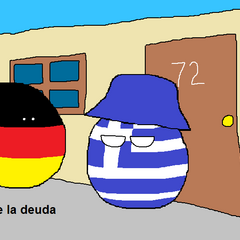 Alemania le cobra a Grecia sus deudas como el Señor Barriga le cobra la renta a Don Ramón en la serie televisiva mexicana El Chavo del 8.