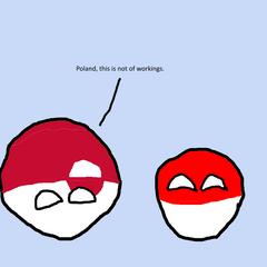 Upside down Greenlandball with Polandball.