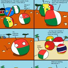 Madagascar cannot into Asia