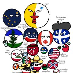 Mapa con los mayores movimientos secesionistas de Norteamérica.