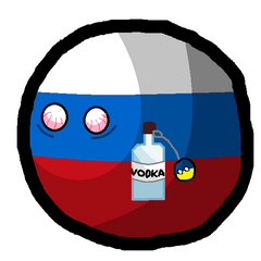 Rosja z Wódką i Ukrainą,silnie rażony światłem