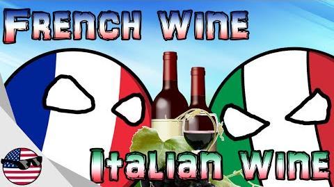 Countryballs French wine vs Italian wine